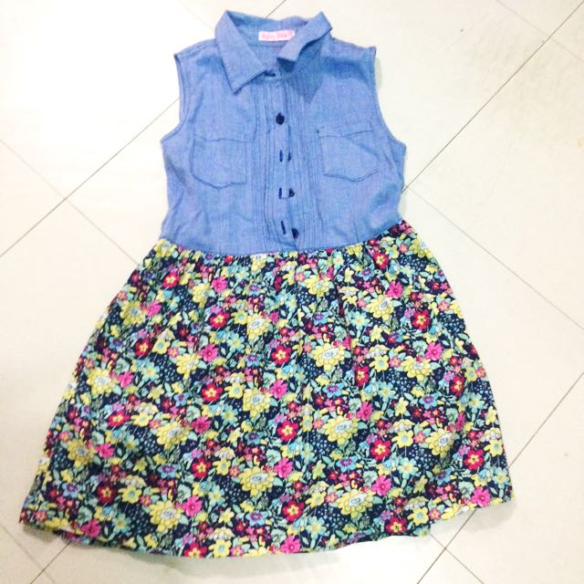 ( Php250 Only!!! ) Byloz Girls Dress For Kids Medium