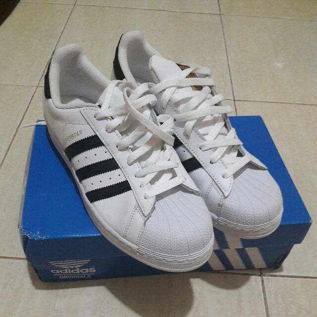 Adidas Super Star Black White