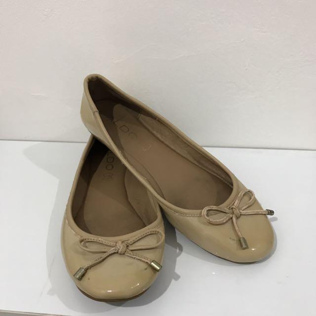 ALDO Nude Flat Shoes
