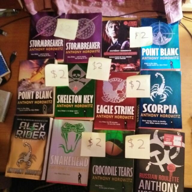 Alex Rider Books 1,2,3,4,5,7,8 And The Prequel To The Series: Russian Roulette