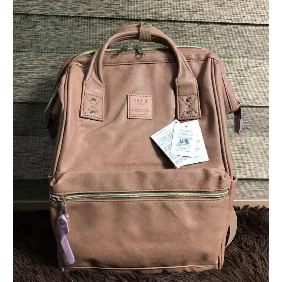 e2cd2c6eae8 Authentic Anello Leather Backpack Large, Online Shop   Preorder ...