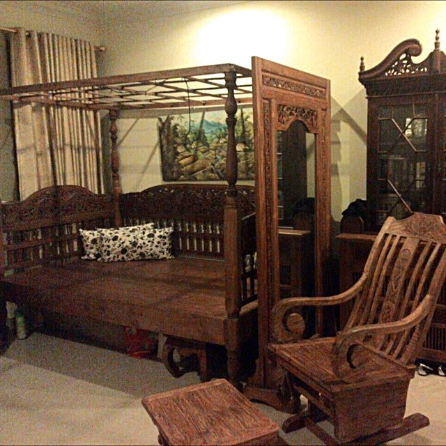 Antique Balinese Teak Wood Furniture, Furniture, Beds ...