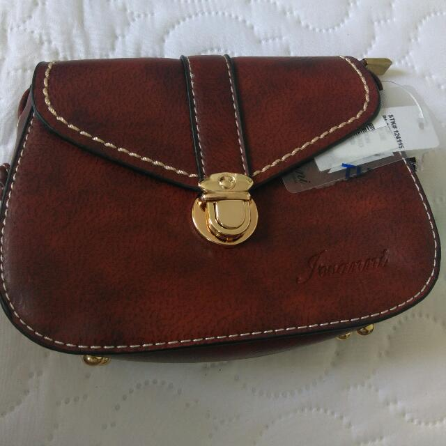 Authentic Jovanni Sling Leather Bag