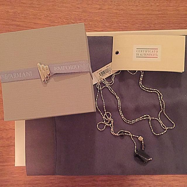 Authentic Emporio Armani Necklace - Silver Chain
