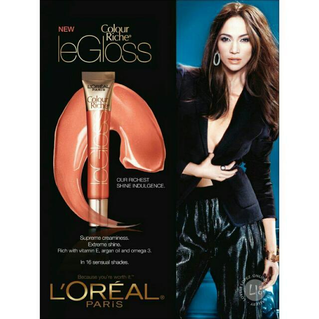 🇺🇸Authentic L'Oreal Paris Colour Riche Le Gloss