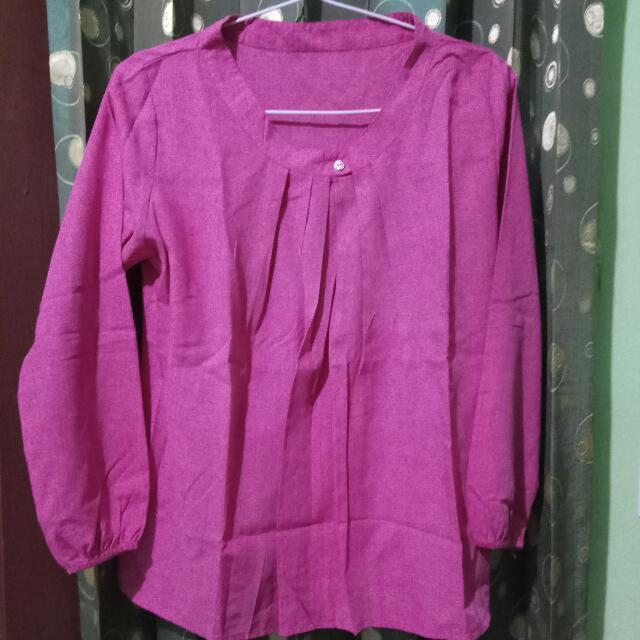 Baju Blouse Pink