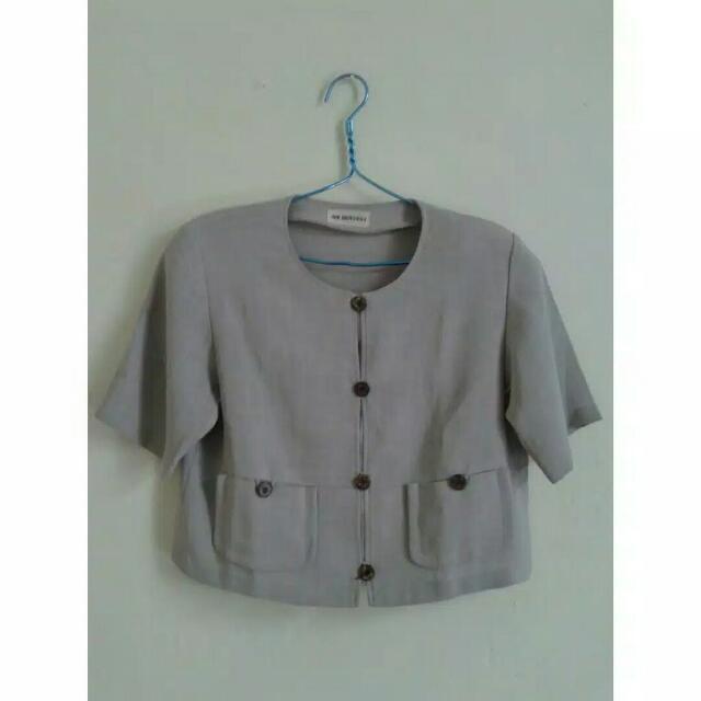 Baju Crop Vintage