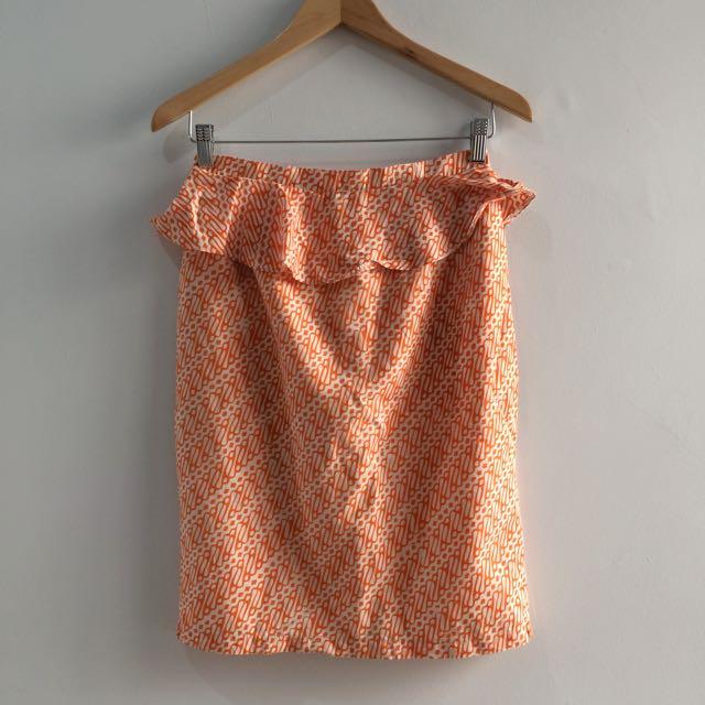Batik Pencil Skirt Rok Kerja Batik Size M