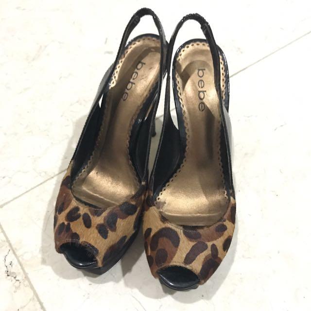 Bebe Leopard High Heels