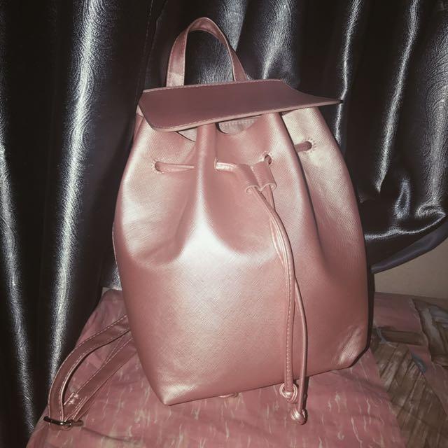 BERSHKA rose gold Backpack