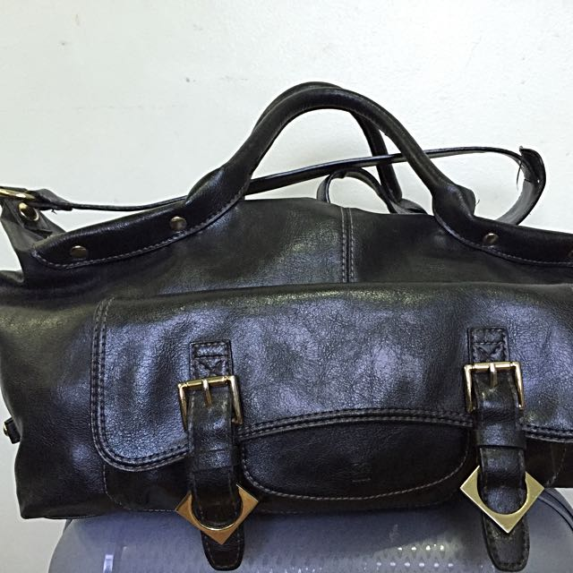 Black bag with sling