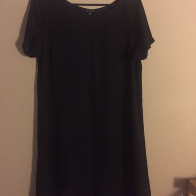 Black Chiffon Shirt Dress