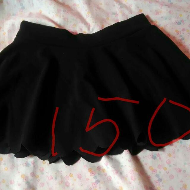 black korean inspired skirt