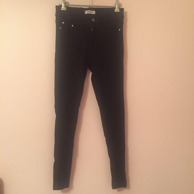black stretchy jeans snake print pilgrim size 8