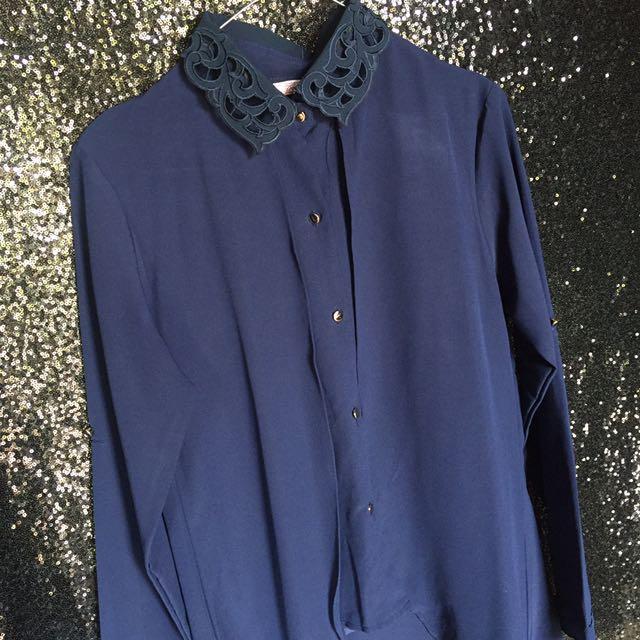 blouse dongker