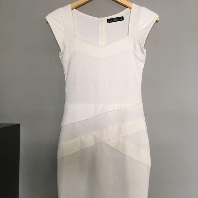 Bodycon Dress White Tlc