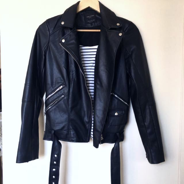 Brand New Zara Moto Leather Jacket