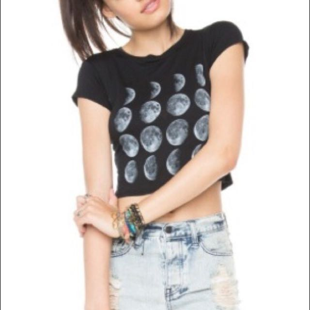 Brandy Melville Moon Phase T- Shirt