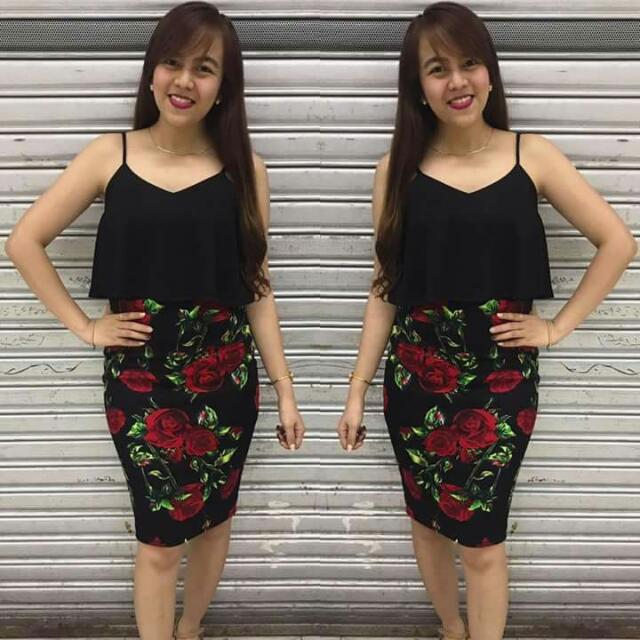Casual Floral Terno
