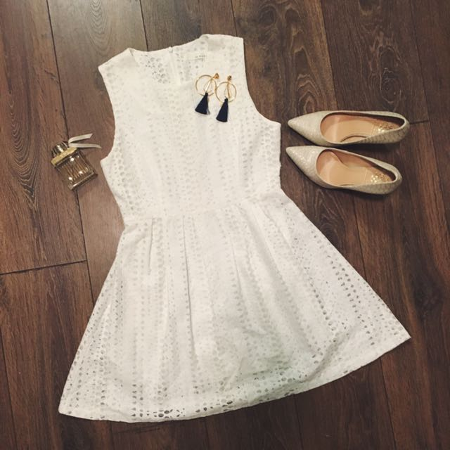 Classic White Lace Little Dress