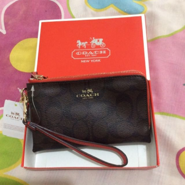 Coach Wristlet Double Zipper/ $95