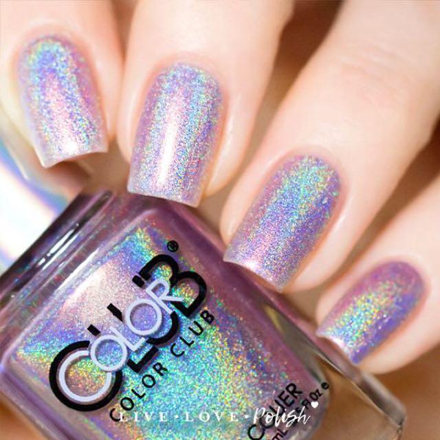 Color Club Cherub Holographic Nail Polish New