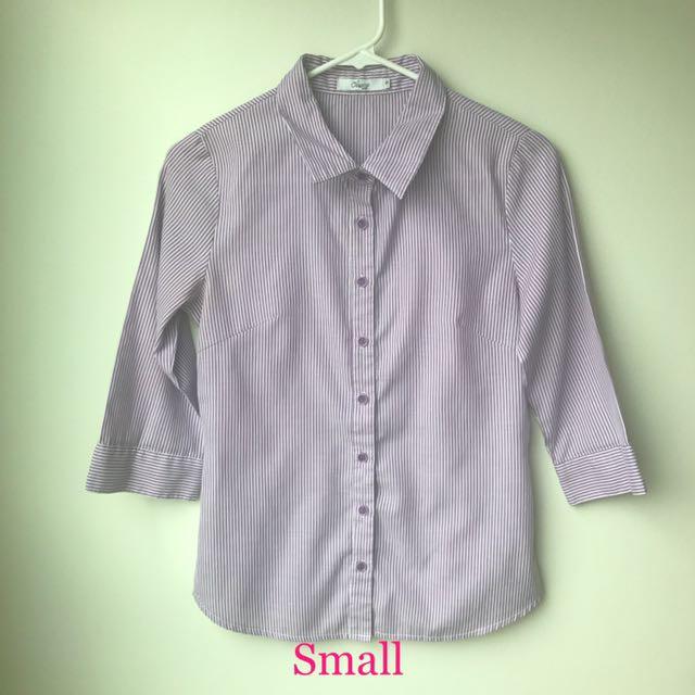 Corporate Office Attire Polo Shirt Blouse Pencil Skirt