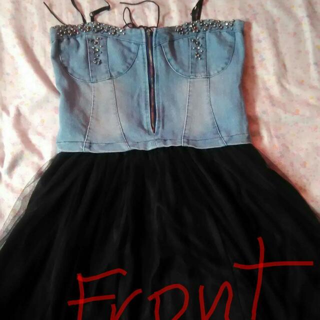 corsette maong dress