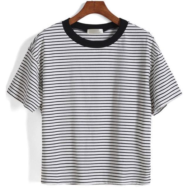 c6870a2dc5cd Cotton On Striped Tee, Women's Fashion, Clothes, Tops on Carousell