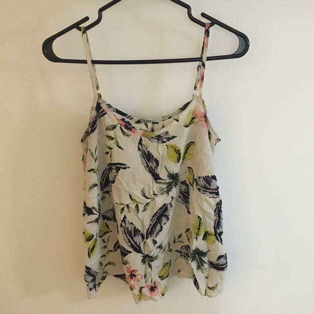Cute Floral String Top