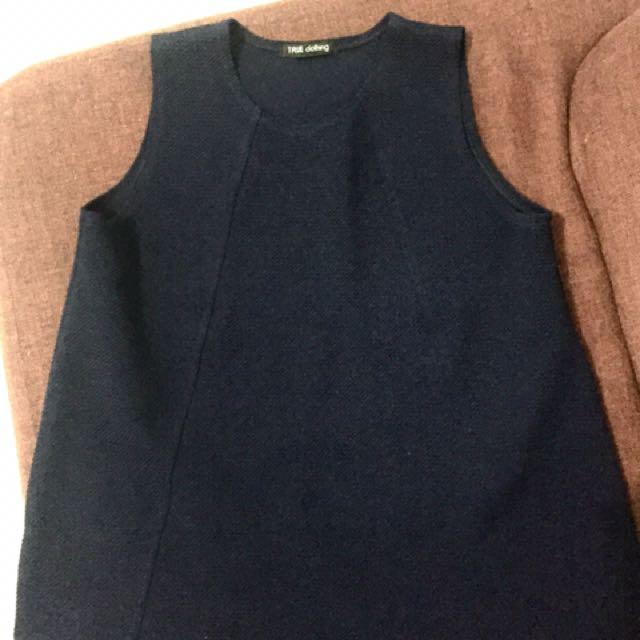 dark blue sleeveless