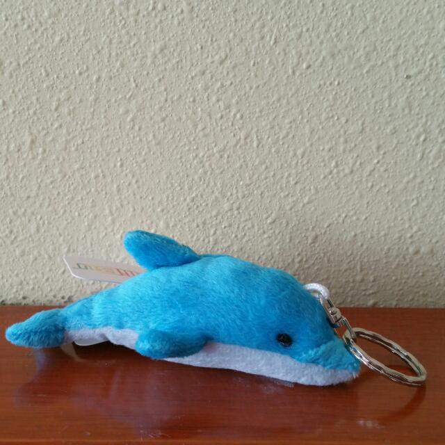 Dolphin Plushie Keychain
