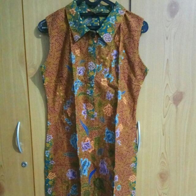 Dress Batik No Sleeves
