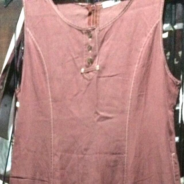 dress panjang terracota