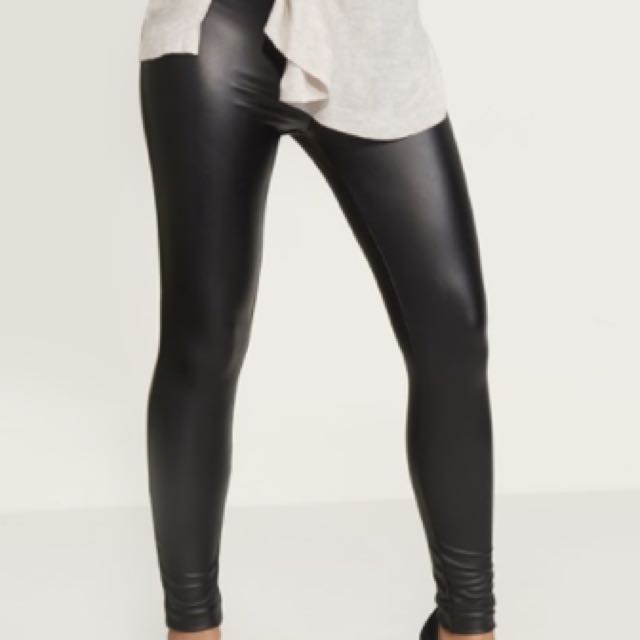 Dynamite Faux Leather Coated Leggings (S)