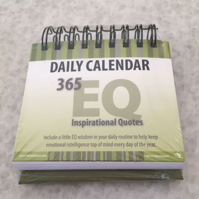 EQ Daily Calendar With 365 Inspirational Quotes, Books