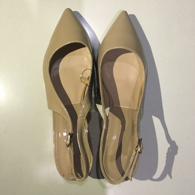 Executive Mules Shoes Nude Color Size 39