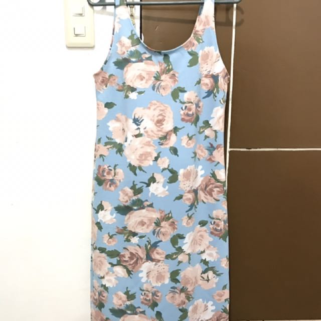 Floral Bodycon Dress - ONHAND