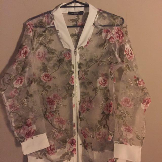 Floral Chiffon Top/Jacket