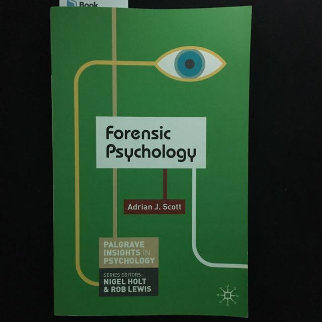 Forensic Psychology Adrian J. Scott