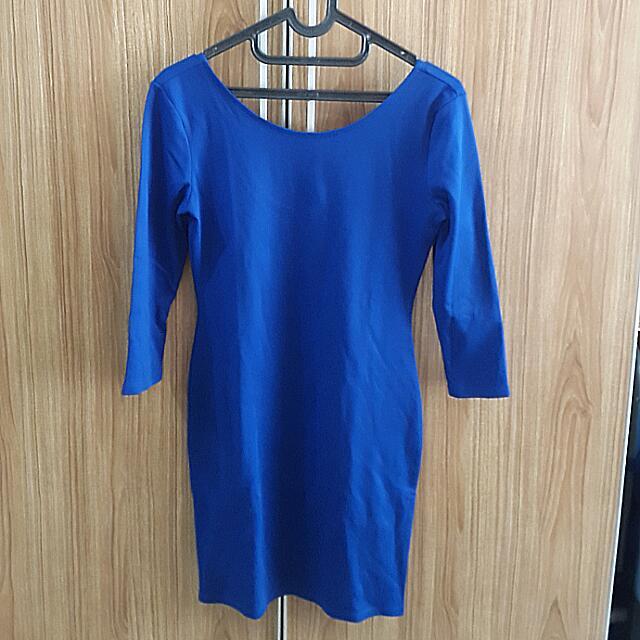 Forever21 Slit Blue Dress