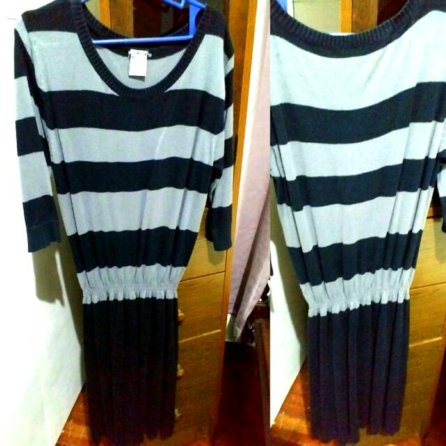 Forever 21 Striped Knitted Dress