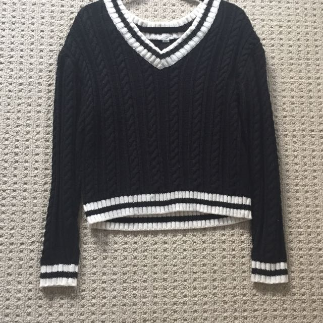 Garage Black And White Sweater