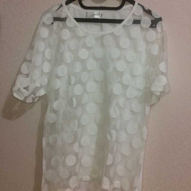 Gaudi White Transparent Top