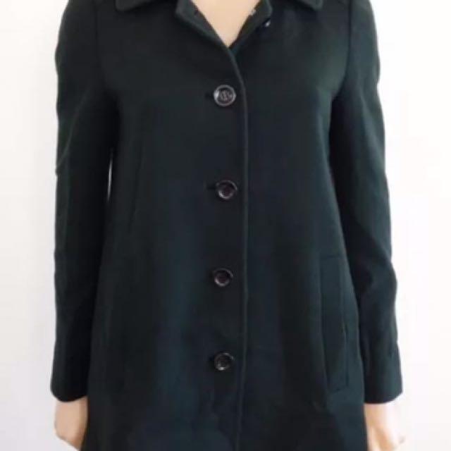 Gorman Green Wool Coat - Size 6