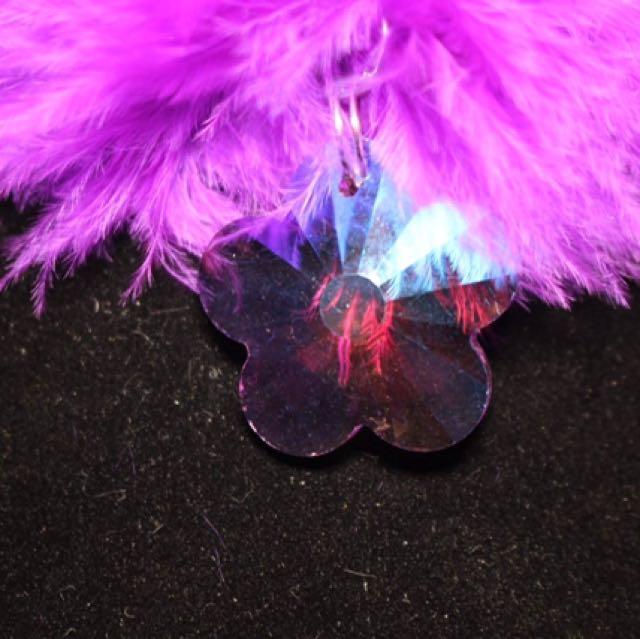 Grape Purple Fluffy Crocker