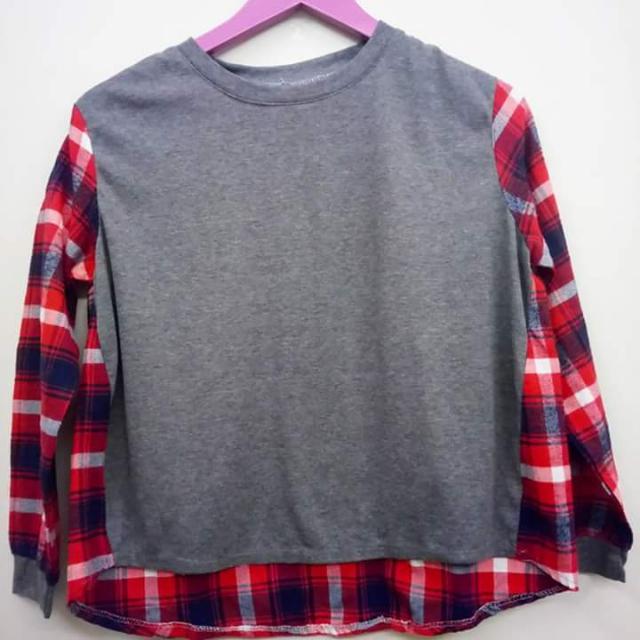 Gray Checkered Sweater