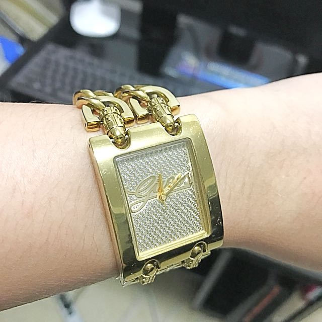 GUESS DOUBLE MINI TWIST GOLD WATCH