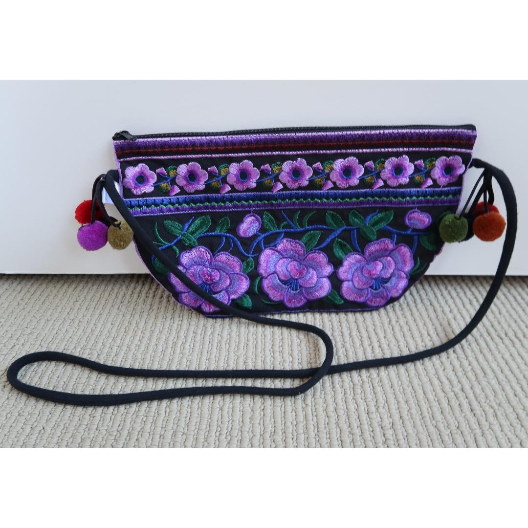 Handmade Embroidered Crossbody Bag
