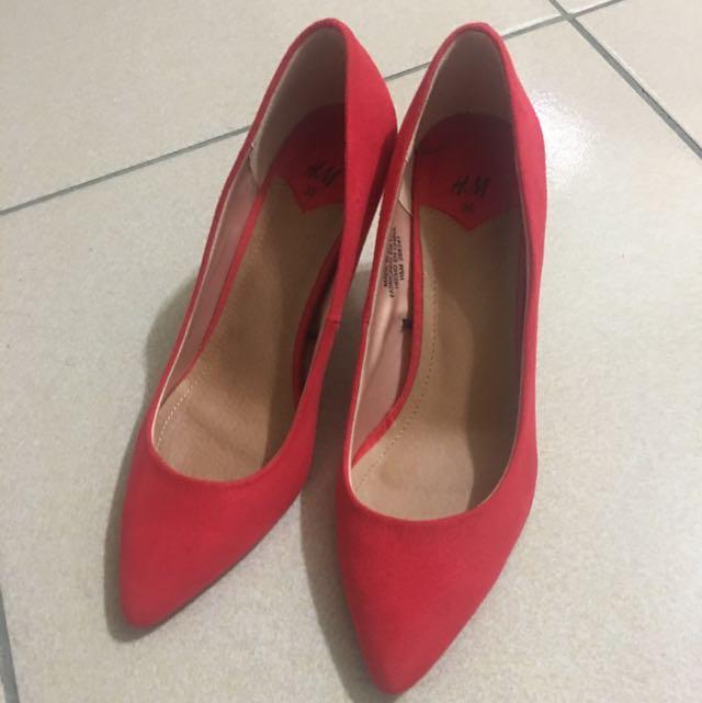 H&m紅色高跟鞋36號